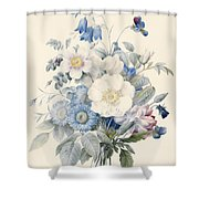 A Spray Of Summer Flowers Shower Curtain by Louise D Orleans