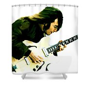 A Time It Was  John Lennon Shower Curtain by Iconic Images Art Gallery David Pucciarelli
