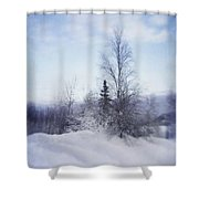 A Tree In The Cold Shower Curtain by Priska Wettstein