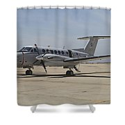 A U.s. Navy Uc-12w King Air Utility Shower Curtain by Timm Ziegenthaler