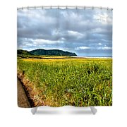 A View From Discovery Trail Shower Curtain by Robert Bales