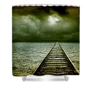 A Way Out Shower Curtain by Photodream Art