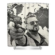 A World Of Pain B Shower Curtain by Filippo B