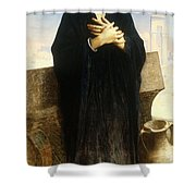 A Young Fellah Girl Shower Curtain by William Adolphe Bouguereau