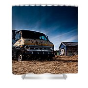 Abandoned Ford Van Shower Curtain by Cale Best