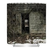 Abandoned House - Enter House On The Hill Shower Curtain by Gary Heller