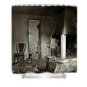 Abandoned In A Rush Shower Curtain by RicardMN Photography