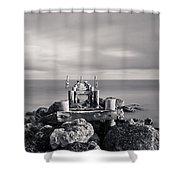 Abandoned Pier Shower Curtain by Adam Romanowicz