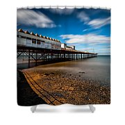 Abandoned Pier Shower Curtain by Adrian Evans