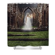 Abbey Ghost Shower Curtain by Amanda And Christopher Elwell