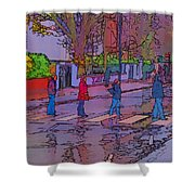 Abbey Road Crossing Shower Curtain by Chris Thaxter