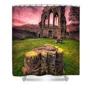 Abbey Ruin Shower Curtain by Adrian Evans