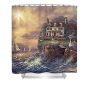 Above The Fray Shower Curtain by Chuck Pinson