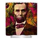 Abraham Lincoln 2014020502 Shower Curtain by Wingsdomain Art and Photography