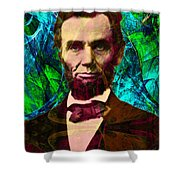 Abraham Lincoln 2014020502p145 Shower Curtain by Wingsdomain Art and Photography