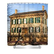 Abraham Lincoln Home In Springfield Illinois Shower Curtain by Paul Velgos