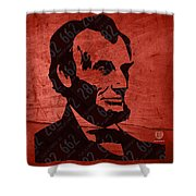 Abraham Lincoln License Plate Art Shower Curtain by Design Turnpike