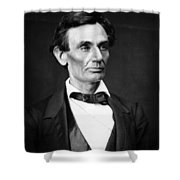 Abraham Lincoln Portrait Shower Curtain by Anonymous