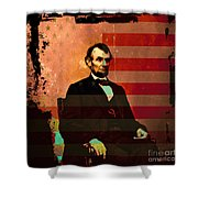 Abraham Lincoln Shower Curtain by Wingsdomain Art and Photography