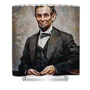 Abraham Lincoln Shower Curtain by Ylli Haruni