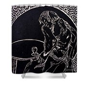 Absinthe Drinker After Picasso Shower Curtain by Caroline Street