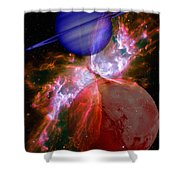 Abstract 168 Shower Curtain by J D Owen