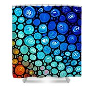 Abstract 2 Shower Curtain by Sharon Cummings