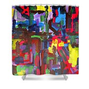 Abstract 213 Shower Curtain by Patrick J Murphy