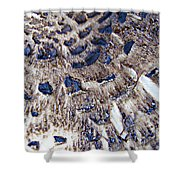 Abstract Accidental Sapphires Shower Curtain by Linsey Williams