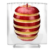 Abstract Apple Slices Shower Curtain by Johan Swanepoel