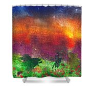 Abstract - Crayon - Utopia Shower Curtain by Mike Savad