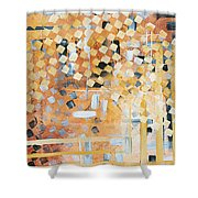 Abstract Decorative Art Original Diamond Checkers Trendy Painting By Madart Studios Shower Curtain by Megan Duncanson