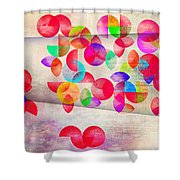 Abstract Floral  Shower Curtain by Mark Ashkenazi