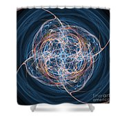 Abstract Fractal Background 08 Shower Curtain by Antony McAulay