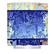 Abstract Fusion 194 Shower Curtain by Will Borden