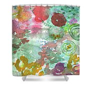 Abstract Garden Shower Curtain by Linda Woods