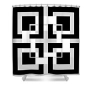 Abstract Geometric  Shower Curtain by Mark Ashkenazi