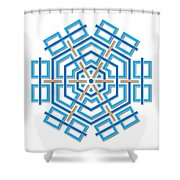 Abstract Hexagonal Shape Shower Curtain by Jozef Jankola