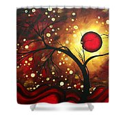 Abstract Landscape Glowing Orb By Madart Shower Curtain by Megan Duncanson
