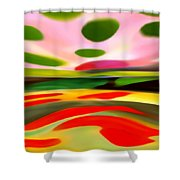 Abstract Landscape Of Happiness Shower Curtain by Amy Vangsgard