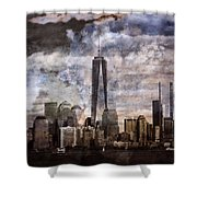 Abstract Manhattan Skyline Shower Curtain by Dan Sproul