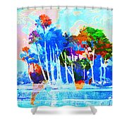 Abstract Map Shower Curtain by Gary Grayson