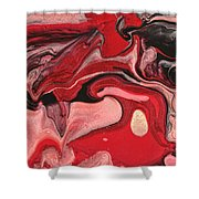 Abstract - Nail Polish - Raspberry Nebula Shower Curtain by Mike Savad