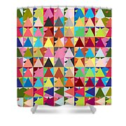 Abstract Of Colors  Shower Curtain by Mark Ashkenazi