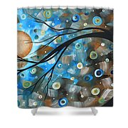 Abstract Original Landscape Art In A Trance Art By Madart Shower Curtain by Megan Duncanson
