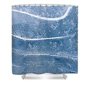 Abstract Patterns In The Ice During Shower Curtain by Kevin Smith