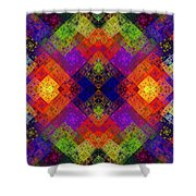 Abstract - Rainbow Connection - Panel - Panorama - Horizontal Shower Curtain by Andee Design
