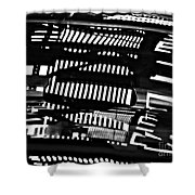 Abstract Reflection 3 Shower Curtain by Sarah Loft