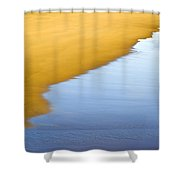 Abstract Seascape Shower Curtain by Frank Tschakert