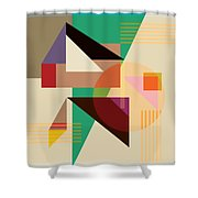 Abstract Shapes #4 Shower Curtain by Gary Grayson